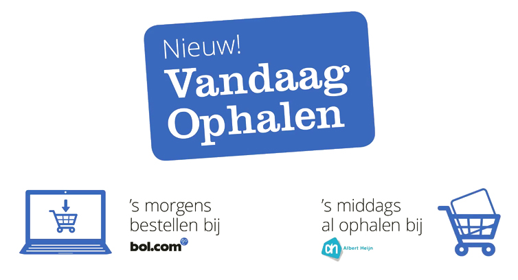 Bol.com biedt 'vandaag ophalen' aan via AH