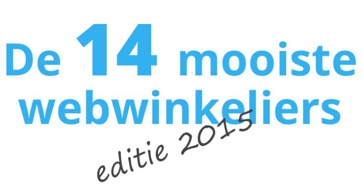 De 14 mooiste webwinkeliers - editie 2015