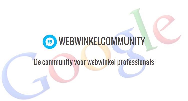 Webwinkelcommunity nu Google-vrij