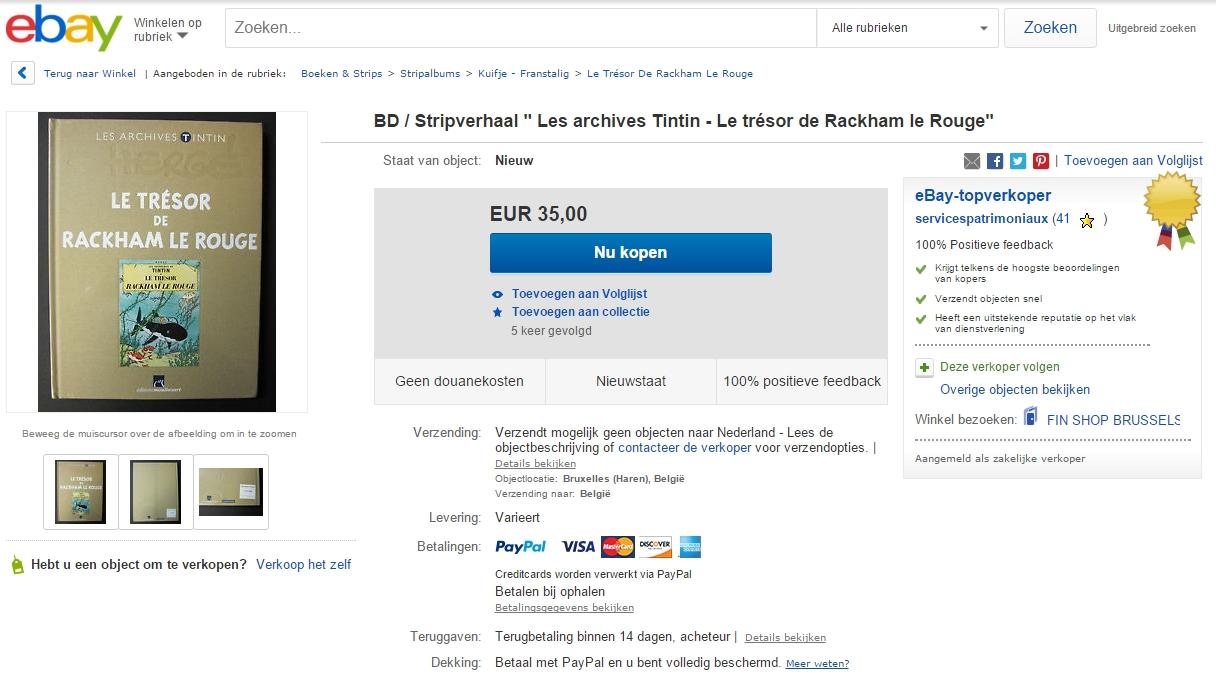 Belgische overheid op eBay