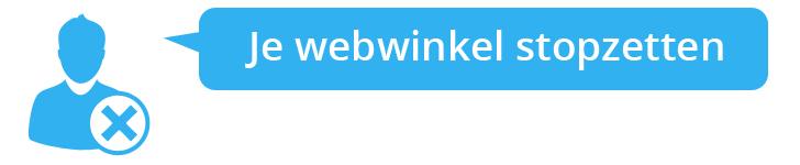 Webwinkel stoppen