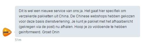 Nieuwe service PostNL