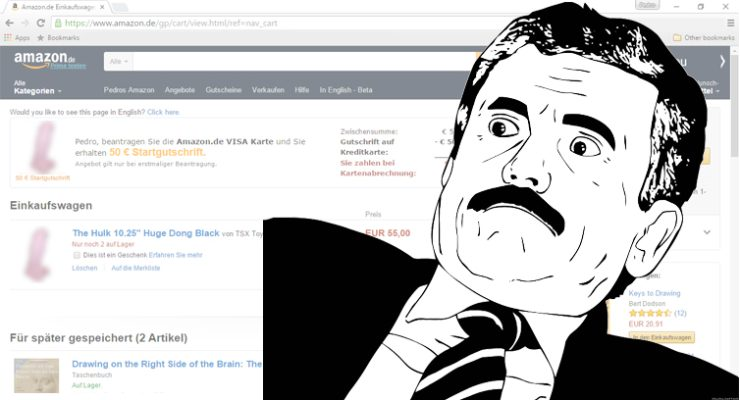 Dildo dankzij Amazon