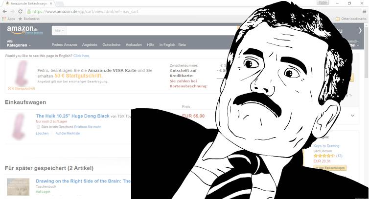 Klant klaagt bij Amazon en… krijgt dildo in winkelwagen