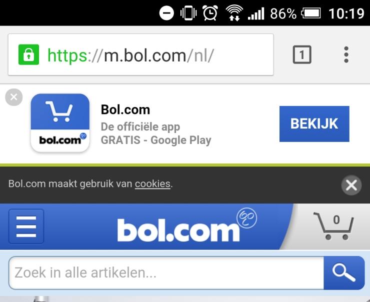Bol.com app-banner