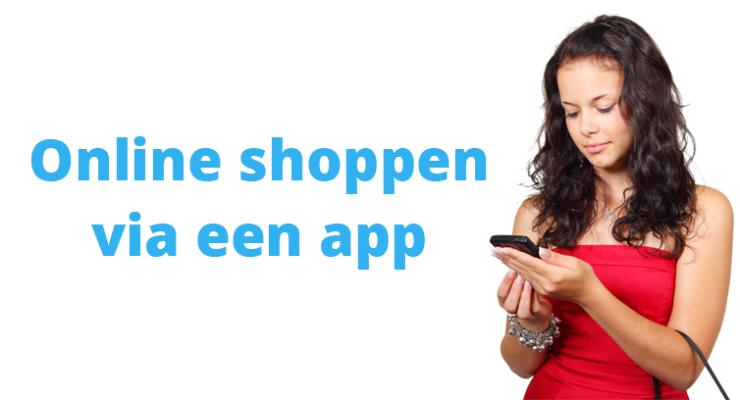 Online shoppen via een mobiele app