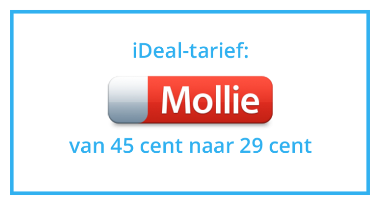 Mollie iDeal-tarief 29 cent