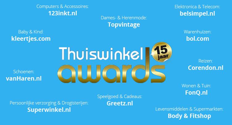 Thuiswinkel Awards 2016: Bol.com beste webwinkel