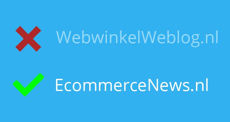 WebwinkelWeblog.nl is nu EcommerceNews.nl