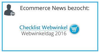 Checklist Webwinkeldag 2016