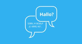 Gebruik van chatbot in webwinkels