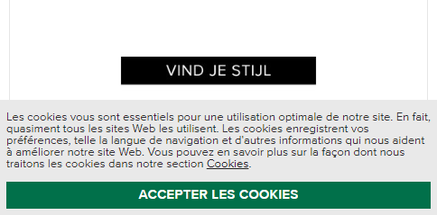 Accepter les cookies!