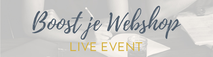 Boost je Webshop Live Event