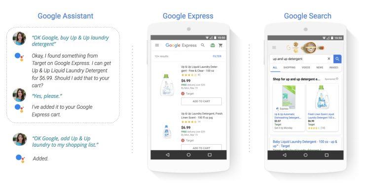 Producten van Target zijn op diverse Google-kanalen te zien en te kopen.