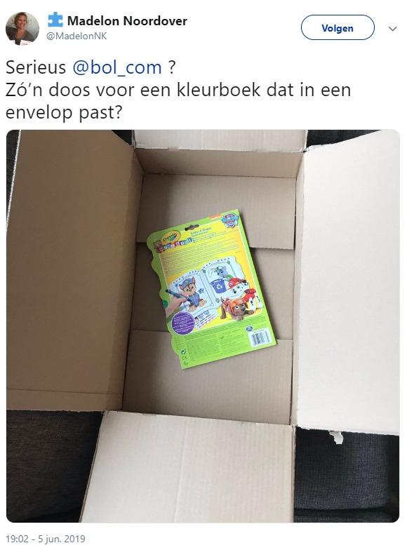 Klachten over de 'duurzame' verpakkingen van Bol.com