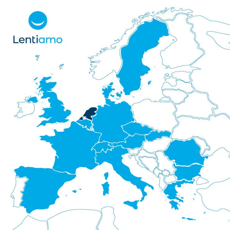 De aanwezigheid van Lentiamo in Europa.