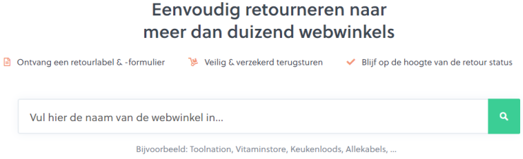 Via Retourneren.nl kunnen consumenten de retourlabels van talloze webwinkels vinden.