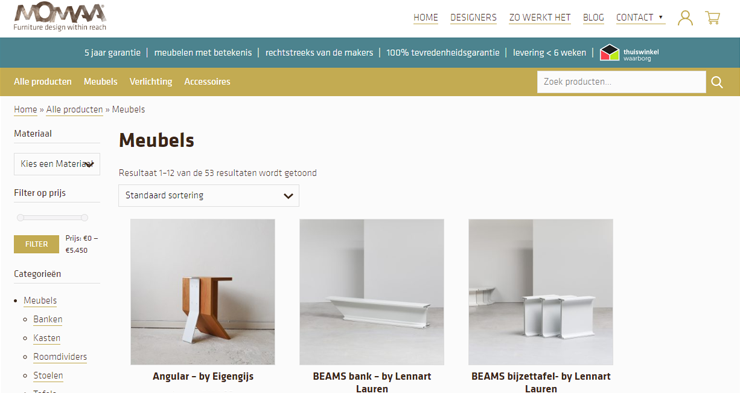 De website van MOMAA.