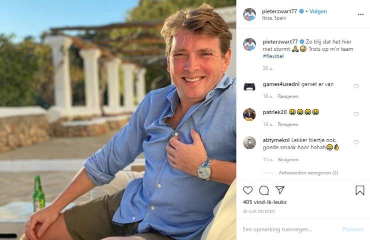 """Pieter Zwart op Instagram: """"Zo blij dat het hier niet stormt 🙏🤪 Trots op m'n team #flexibel"""""""
