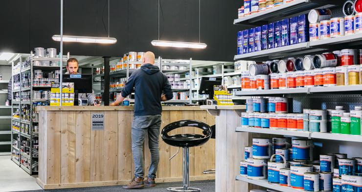 De Verf.nl-winkel in Akersloot (Noord-Holland).