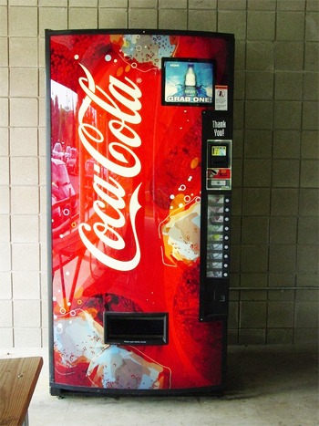 De verkoopautomaat zoals we die allemaal wel kennen.