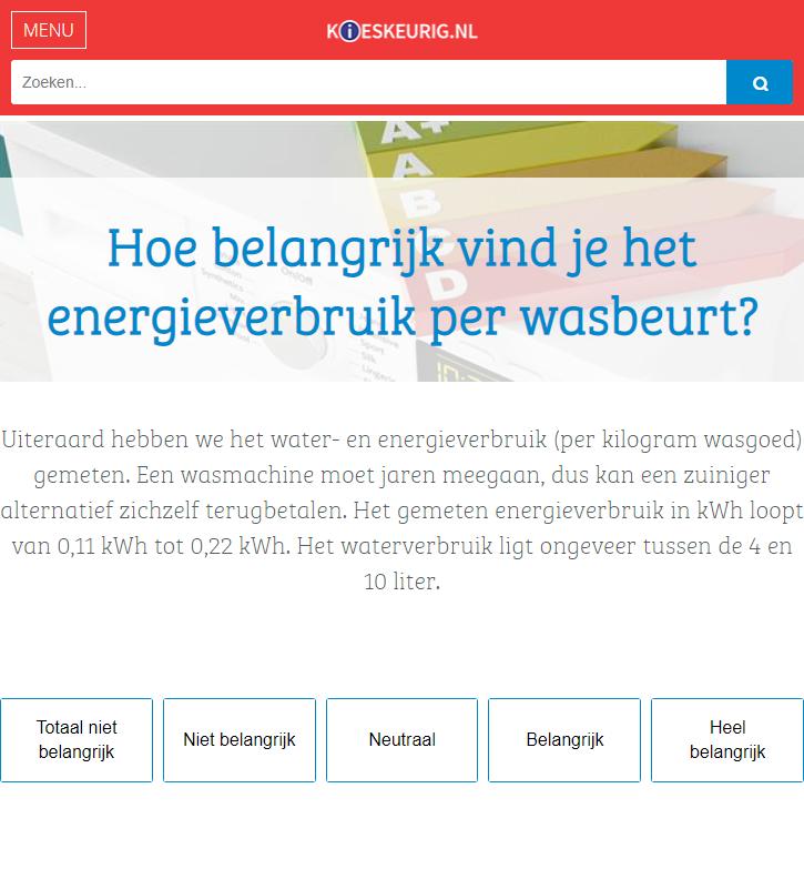 Kieskeurig.nl - keuzehulp wasmachines