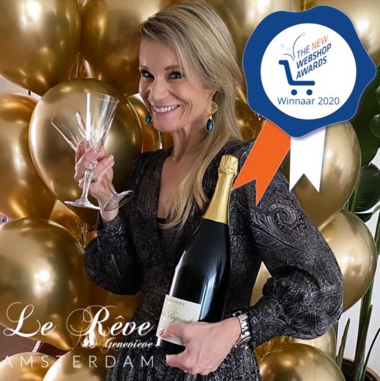 Geneviève Schelkens, als winnaar van de New Webshop Awards 2020.