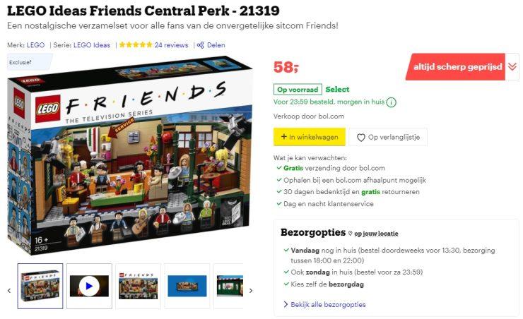 Volgens de lijst ontbreekt deze Lego-set, maar Bol.com verkoopt 'm gewoon (zelf).