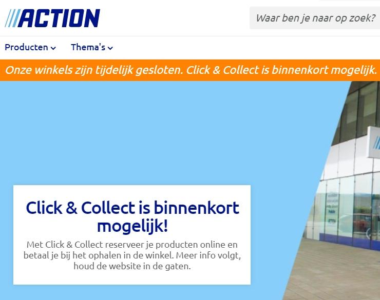 Webwinkel Action in aantocht.
