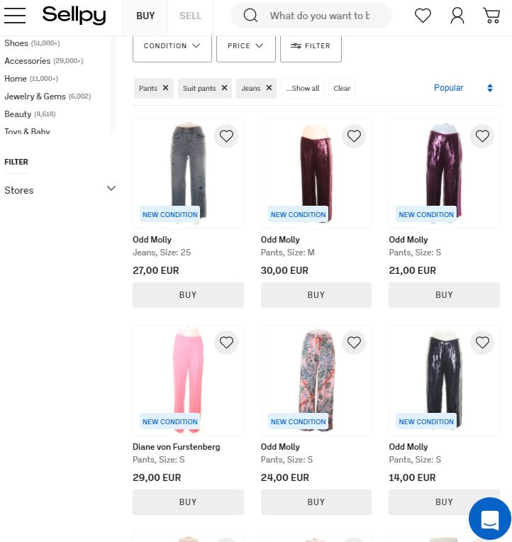 De website van Sellpy in Nederland.