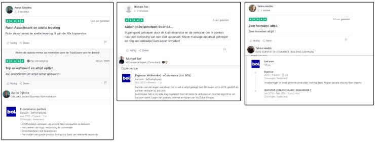 Reviews van Bol.com-partners