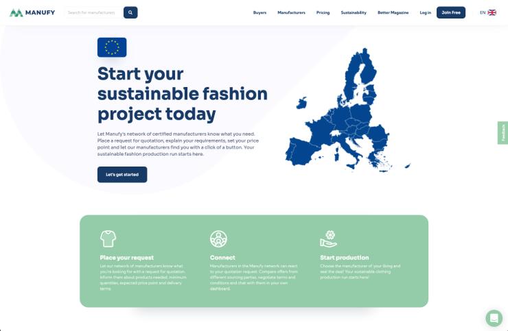 Manufy homepage